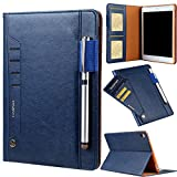 iPad Mini 4 Smart Case,Premium PU Leather Case Tablet Smart Stand Case [Rugged Protective][well made] Slim Fit Cover with Card Slot and Hand Strap for iPad Mini 1/Mini 2/Mini 3/Mini 4