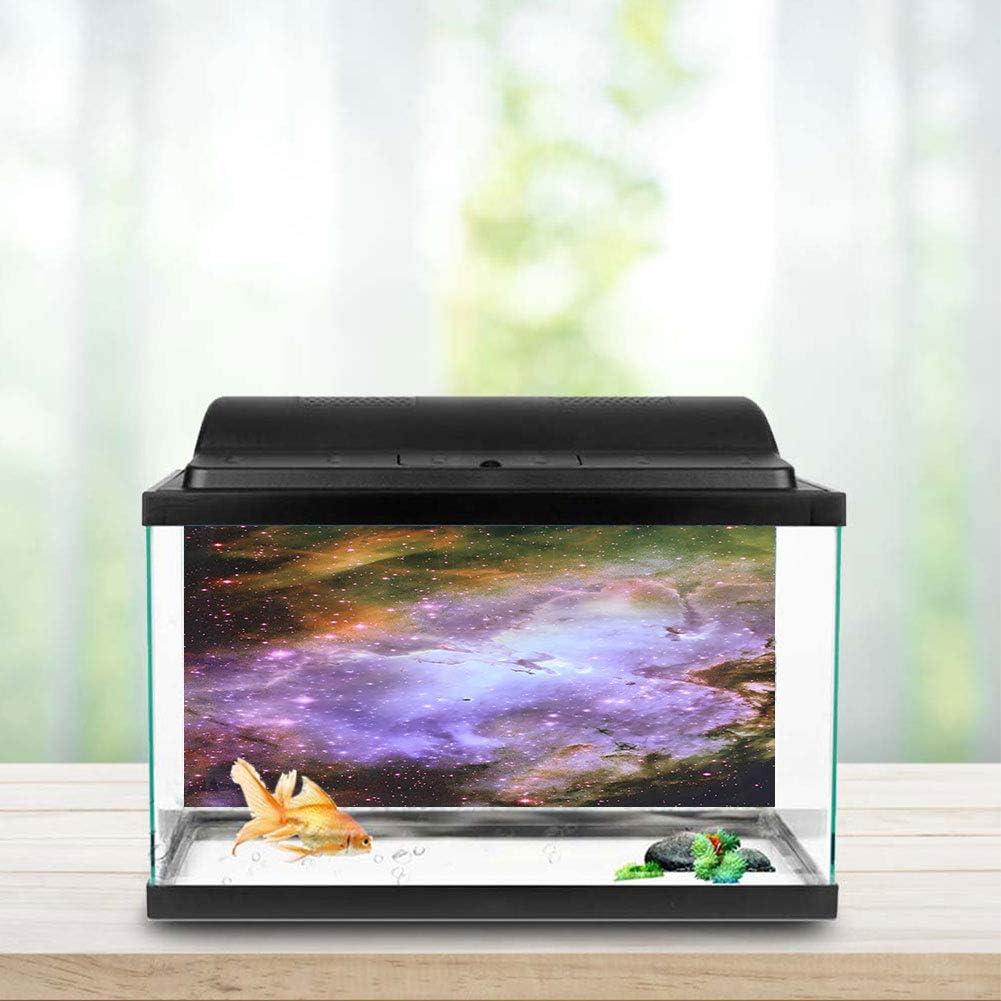 3D PVC Adhesive Outer Space Poster Sticker Static Cling for Aquarium Fish Tank Jimfoty Aquarium Background Decorative Poster