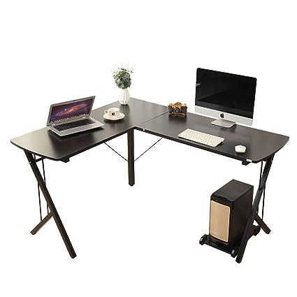 Soges 56u0026quot; L Shaped Desk Computer Desk Corner Desk Office Desk, Black WK