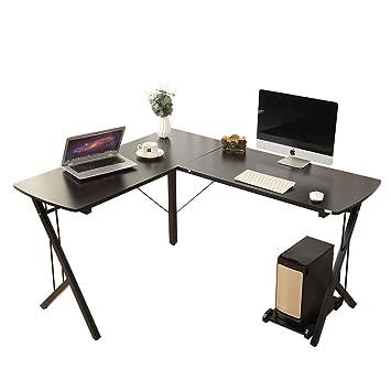office desk black. Soges 56\u0026quot; L-Shaped Desk Computer Corner Office Desk, Black WK