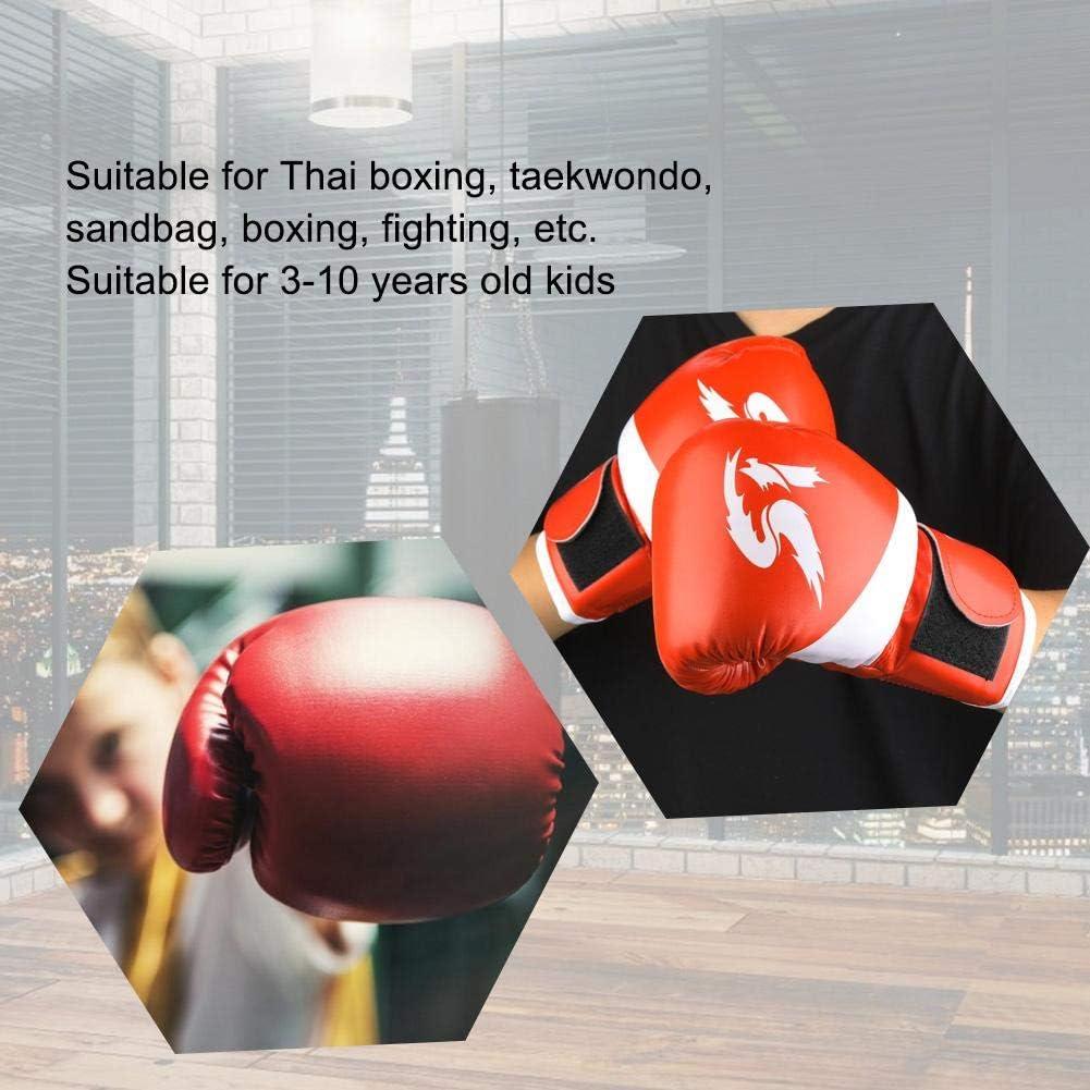 VGEBY1 Guantes de Boxeo un par de Guantes de Boxeo para ni/ños de Cuero de PU Guantes de Saco de Arena de Boxeo Guantes de Entrenamiento de Boxeo