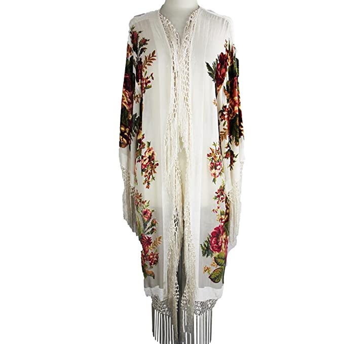 Vintage Scarves- New in the 1920s to 1960s Styles Aris A Silk Velvet Burnout Kimono $98.00 AT vintagedancer.com