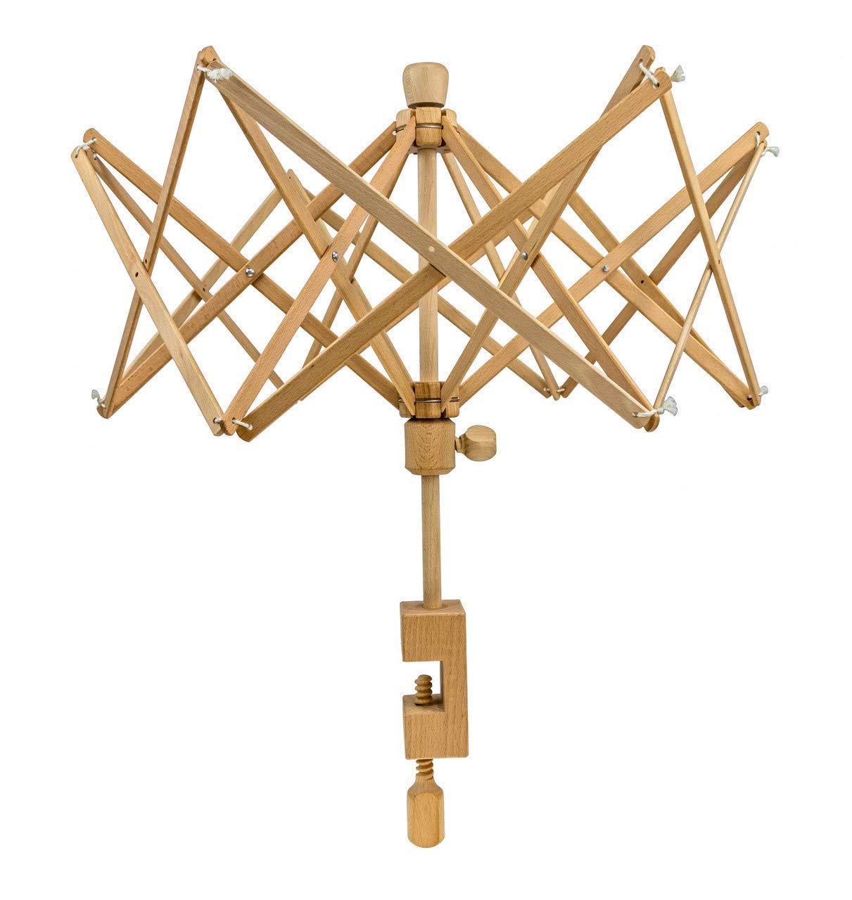 Stanwood Needlecraft Wooden Umbrella Swift Yarn Winder, Medium (Renewed)