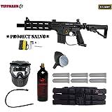 MAddog Tippmann U.S. Army Project Salvo Titanium Paintball Gun Package