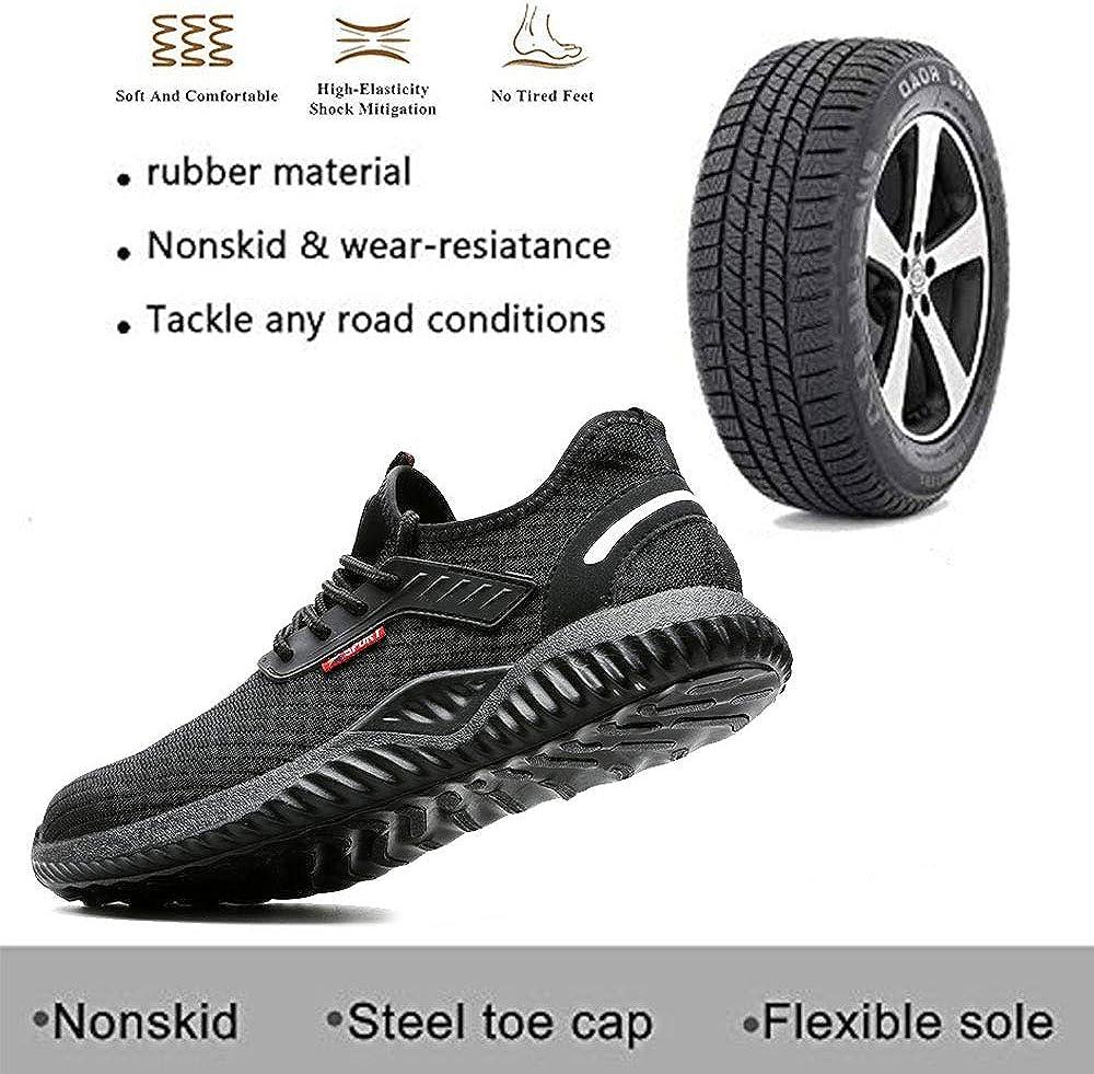 GUFANSI Chaussures de S/écurit/é Homme Femme Respirant L/ég/ère Basket de Travail avec Embout de Protection en Acier Legere Respirant