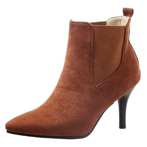 RAZAMAZA Mujer Moda Tacón Alto Botas Vestido  Amazon.es  Zapatos y  complementos b5e5546d11a7f