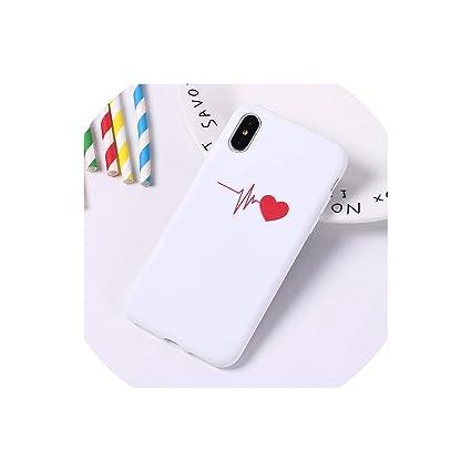Amazon.com: Funda de silicona suave para iPhone 5, 5SE, 7 ...