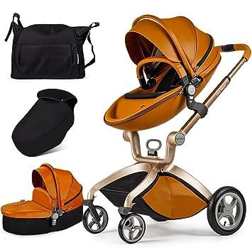 Caliente mamá cochecito 2016, 3 en 1 bebé sistema de viaje Cochecito con cuna marrón (negro): Amazon.es: Bebé