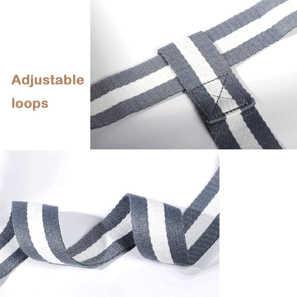 EasyLife185 Yoga Mat Strap Durable and Comfy Delicate Texture,Doubles As Yoga Strap Adjustable Durable Cotton Yoga Mat Carrier