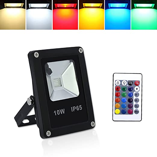 HG® Foco RGB 10W LED Proyector Resistente al agua IP65 Lámpara ...