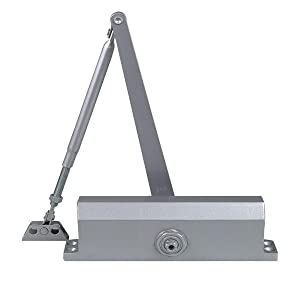 Dynasty Hardware 3000-ALUM Commercial Grade Door Closer, Size 3 Spring, Sprayed Aluminum