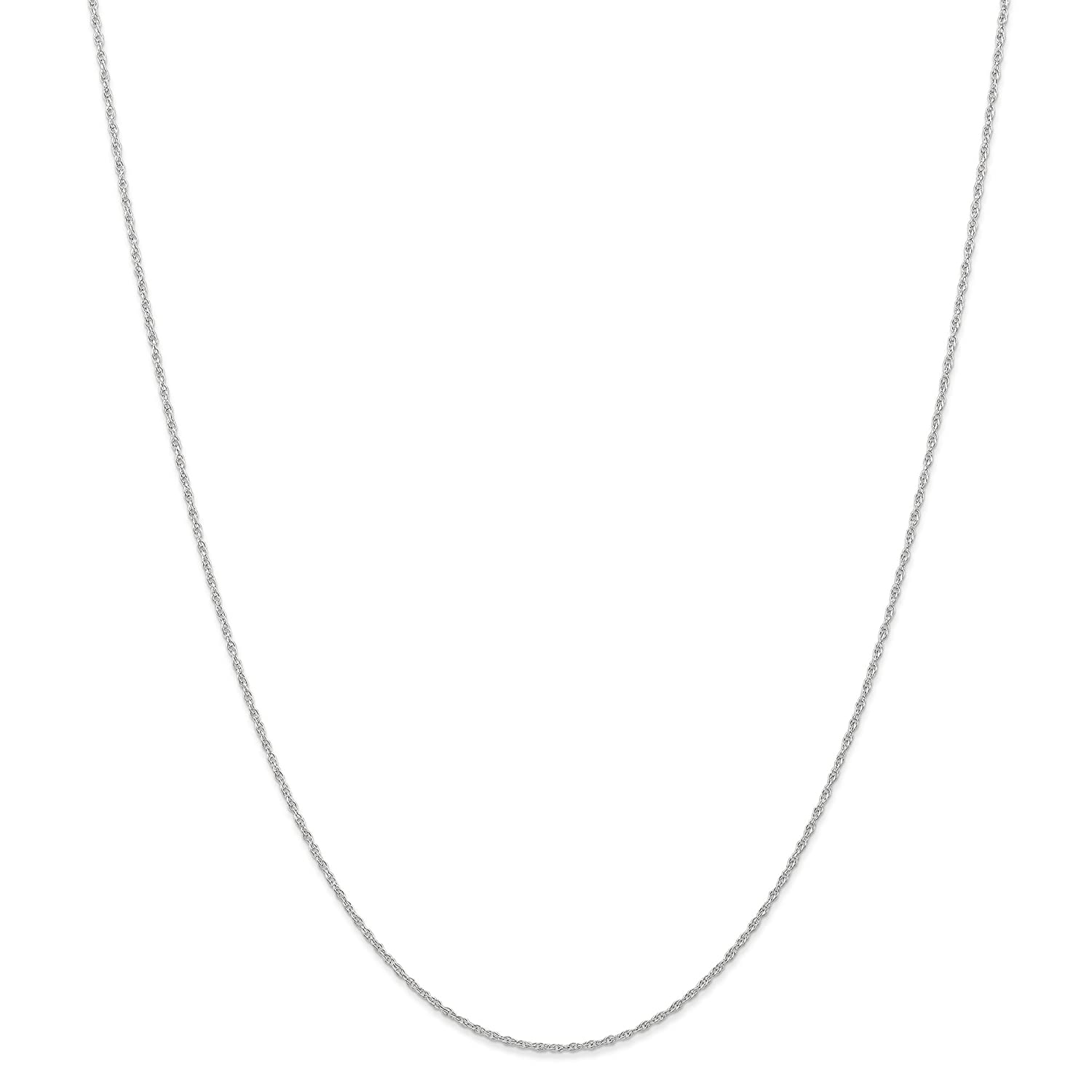 14k White Gold 0.95mm Spring Ring Carded Chain Necklace 18