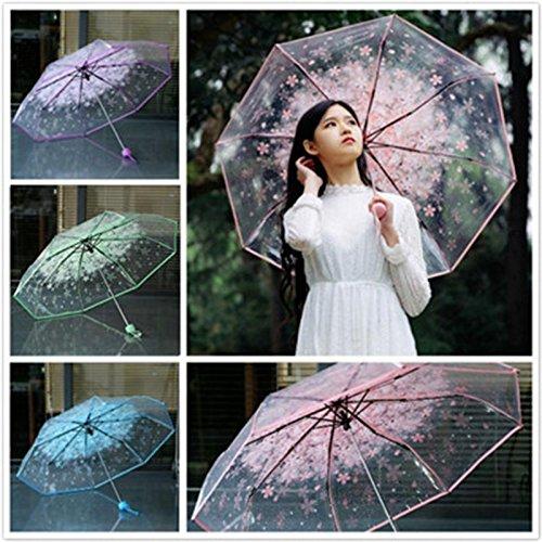 Xiaolanwelc 1pc Three Fold Umbrella Women