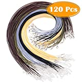 Paxcoo 120Pcs Necklace Cord with Clasp Bracelet String Bulk for Necklace Bracelet Jewelry Making (20 inches)