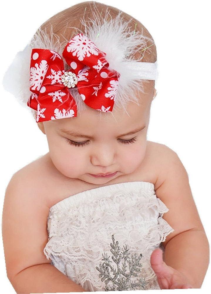 Freessom Kit de 5pcs Pince Cheveux Bebe Enfant Fille Noeud Papillon Etoile Fleur Animaux Bec de Canard Princesse Barrette Chouchou Chic Clips Accessoire Fete Mariage D/éguisement Photo