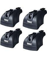 Thule Sweden Rapid System 753 Système de fixation des bagages en 4 pièces
