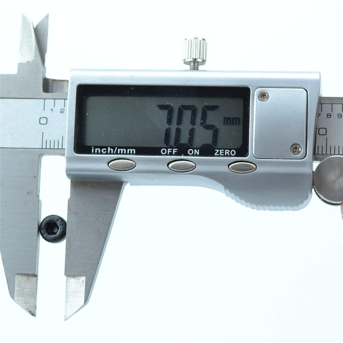 xunliu Grade 14,9/Legierung Stahl scm440/Zylinder Innensechskant Kopf ger/ändelt Gap Schraube Schwarz M4X5 100pcs