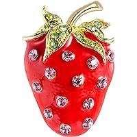 kexinda Las Mujeres Strawberry Rhinestone Collar del Juego de la Broche de Las Muchachas suéter de la joyería de la…