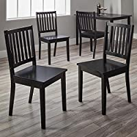 Simple Living Slat Espresso Rubberwood Dining Chairs Set of 4 Deals