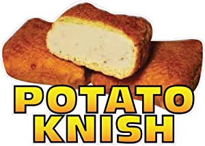 Die-Cut Sticker Multiple Sizes Potato Knish Restaurant & Food Potato Knish Indoor Decal Concession Sign Brown - 10in Longest Side
