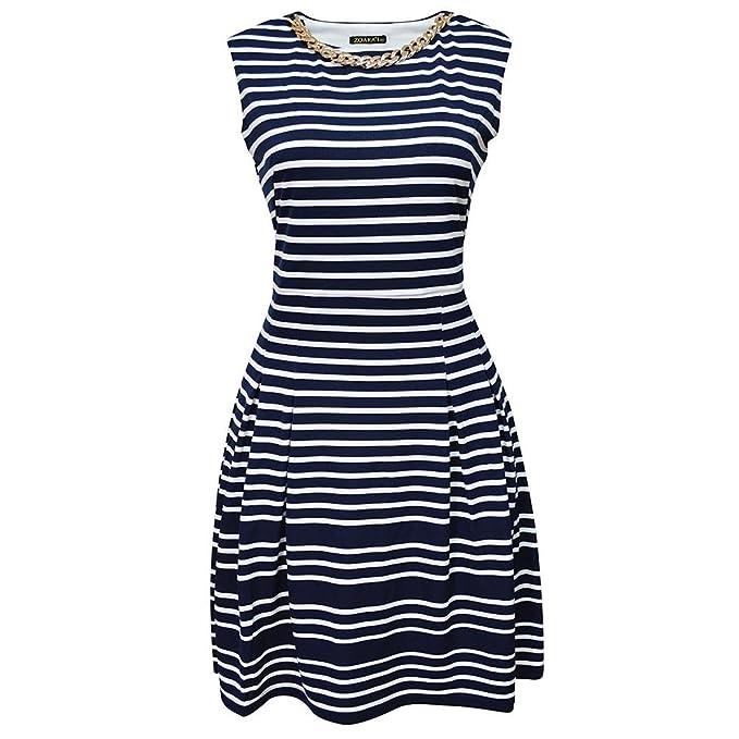 a7b142d85 Zoara Vestido Casual Moderno para Dama Mujer Mod. 1664 Azul Marino Talla S