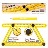 Angleizer Template Tool - Angle-izer Tile & Flooring Template Measuring Ruler| Multi-Angle & Shapes Layout Finder - Stencil For Professional & General DIY by 2BExpert