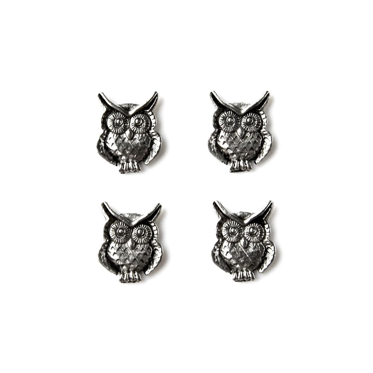 Quality Handcrafts Guaranteed Owl Tuxedo Studs
