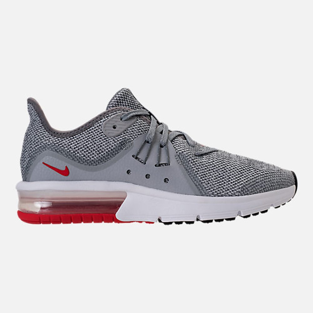 competitive price 21170 bf74c Nike Men s Air Max Sequent 3 (gs) Track   Field Shoes, Multicolour (Cool  University Red Wolf Grey White 003), 6 UK  Amazon.co.uk  Shoes   Bags