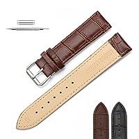 Cinturino cinturino in pelle vintage cinturino in pelle vintage 18mm 20mm 22mm, universale per uomo e donna in vera pelle di vacchetta
