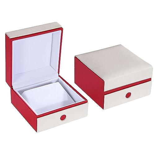 Blisfille Caja de Regalo Redonda Joyas para Novia Regalos Originales para Hombre Cumpleaños Caja de Blanco Rojo: Amazon.es: Joyería