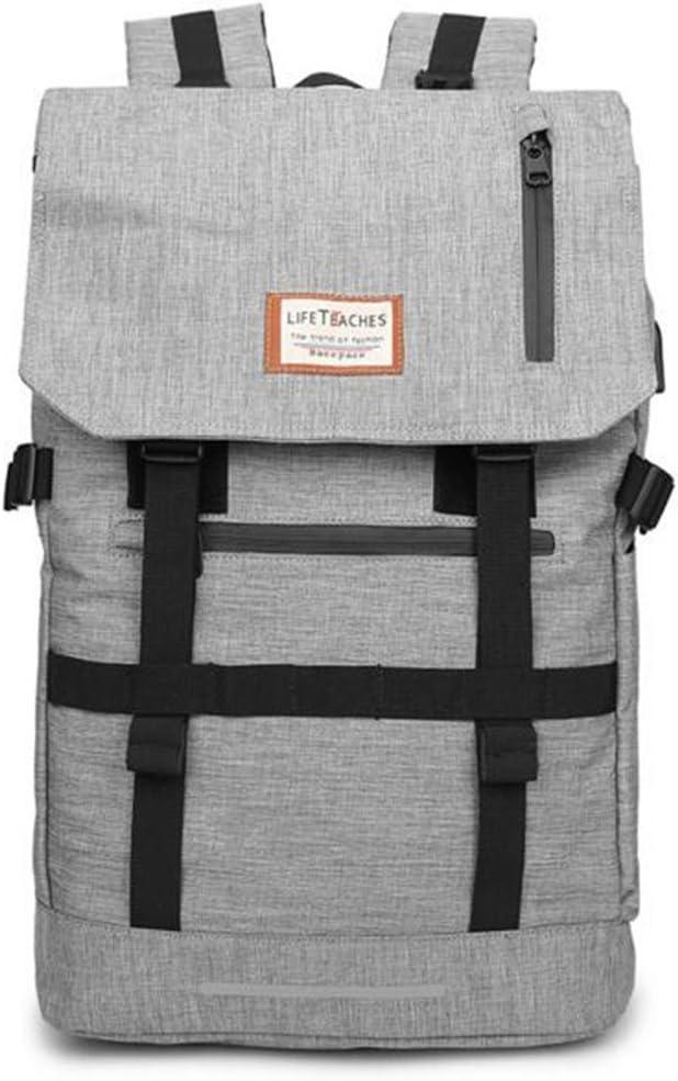 QIDI Travel Bag Student Bag Deformation Package Backpack Color : Gray