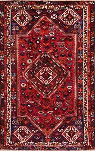 Shiraz Persian Nomad Tribal Oriental Area Rug Wool Handmade Geometric 5X9 Carpet 9' 2