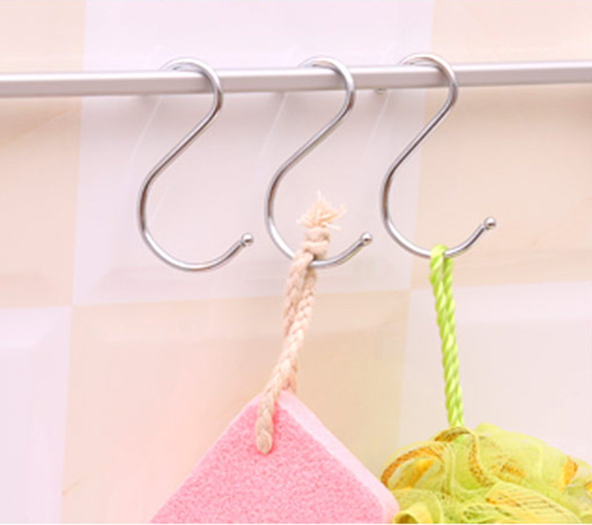 Giantstar 20 Pack  Heavy Duty S Hooks Kitchen Pot Pan Hanger Clothes Storage Rack Size:Large (20pcs/L) by Giant star (Image #6)