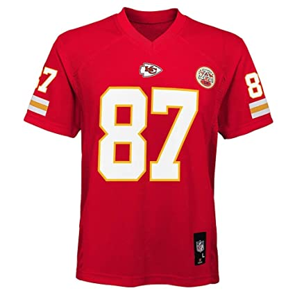 innovative design 6ca3e c09ea Outerstuff Travis Kelce Kansas City Chiefs NFL Youth Red Home Mid-Tier  Jersey