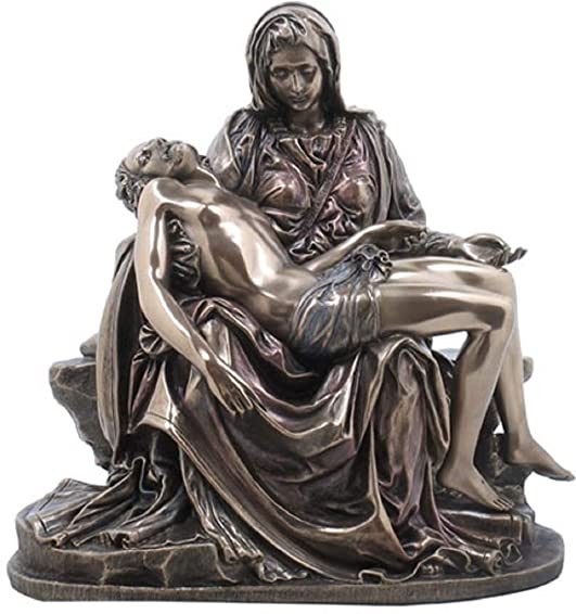 Pieta Statue – Cold Cast Bronze Sculpture – Magnificent