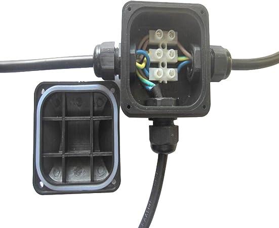 VABNEER Caja de Conexiones IP67 Impermeable cajas de conexión de cables con 3 Vías subterráneo cajas conexiones electricas para Cable de Diámetro Ø6.5mm - 10.5mm (5Pcs,Negro): Amazon.es: Bricolaje y herramientas