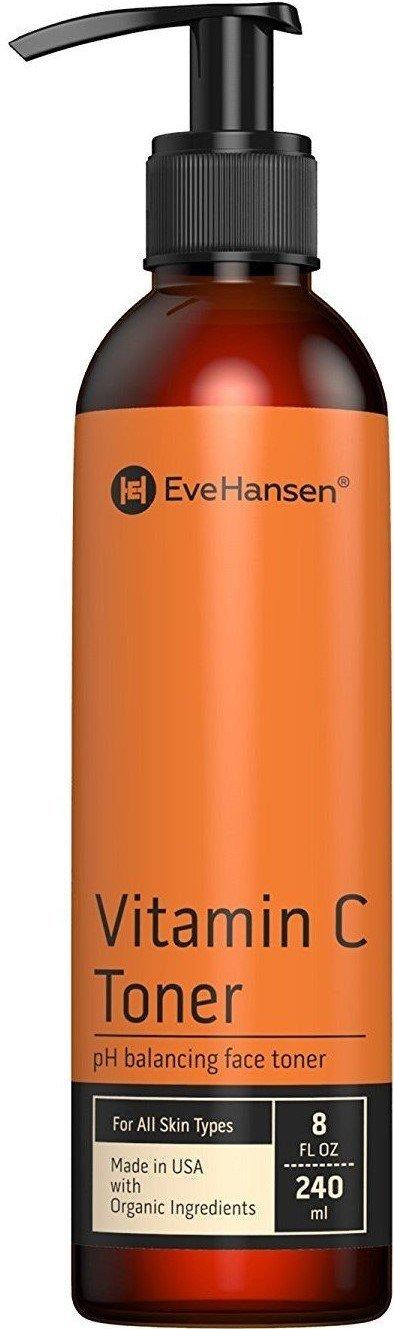 Natural Vitamin C Face Toner - Hydrating, Firming, pH Balancing Facial Toner - 8 Ounces - Eve Hansen.