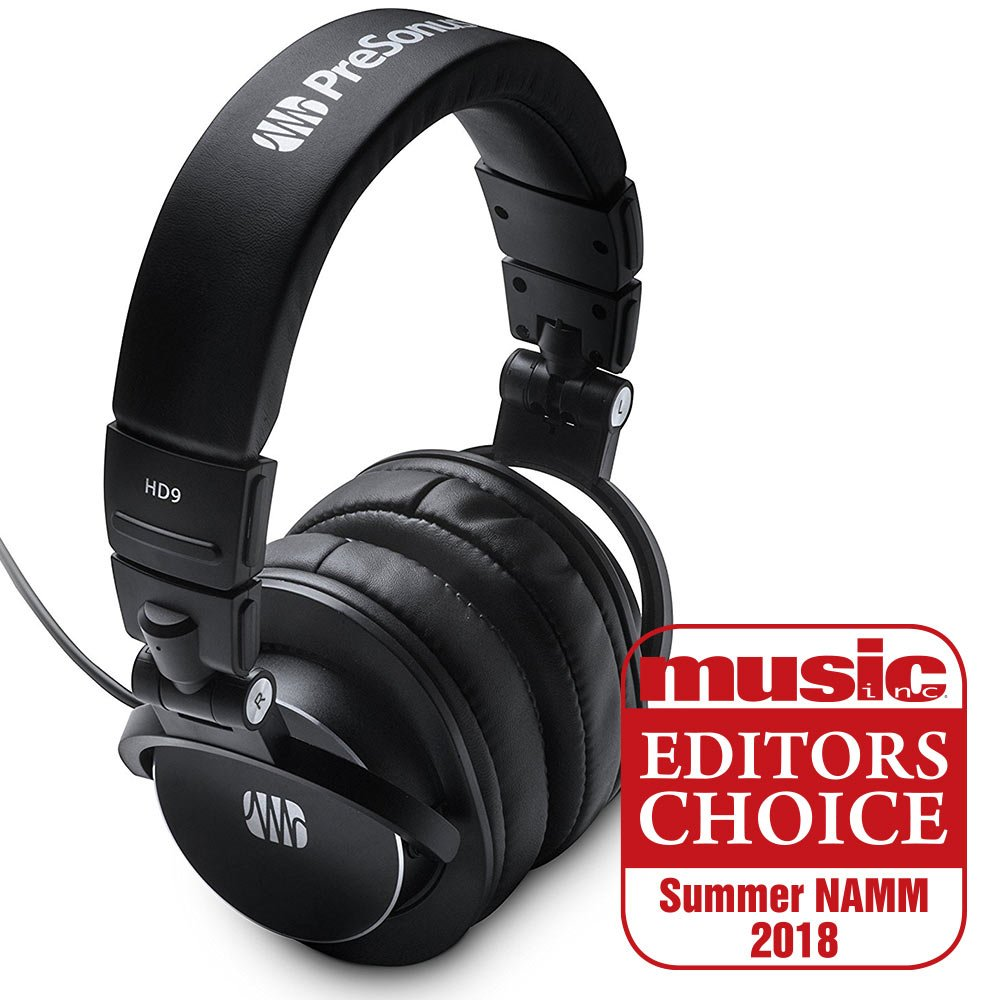 Presonus Professional Headphones, HD9-Closed Back, 45mm Drivers (HD9) by PreSonus