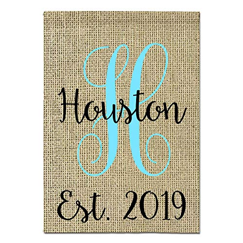 Personalized Burlap Garden Flag in a Variety of Colors to Match Your Decor | 12x17 inches