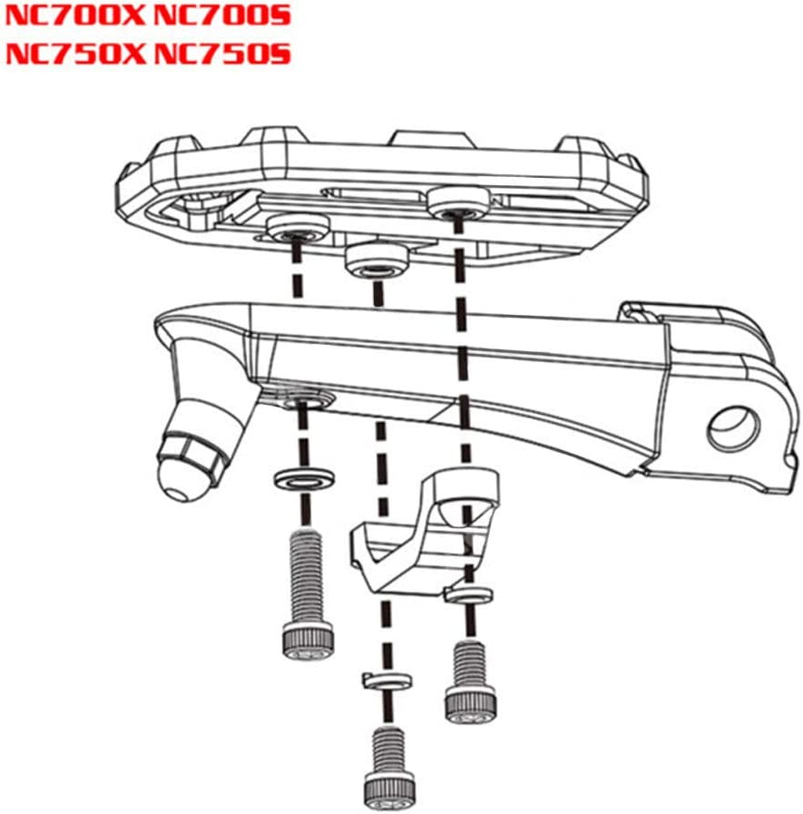 LAOOWANG Aluminum Motorbike Foot Pegs Footpegs Footrests For Honda Fit for Honda NC700X NC700S NC750X NC750S 2012-2019 CB500X 2015 2016 CNC