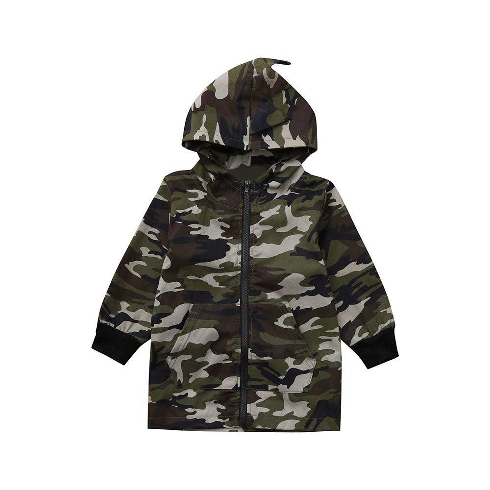 Yanhoo Kleinkind Wintermantel Baby Jungen Winter Camouflage Warme Parka Mantel Jacke mit Kapuze Windproof Coat Daunenjacke