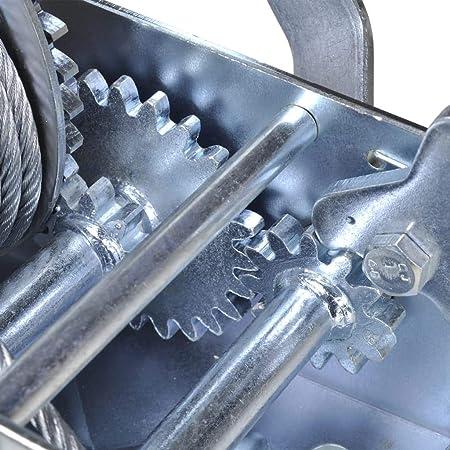 vidaXL Hand Winch 363kg Manual Lifts and Hoists Pickup Trucks Trailers Tool