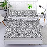 Zhiyuan Leopard Printing Soft Healthy 100% Cotton Sleeping Bag Liner Lightweight Camping Sheet Black and White 31''x82''