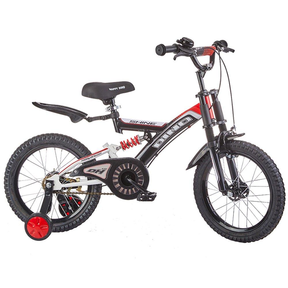 自転車18インチ4-5-6-7-8歳のベビーカーの自転車の男の子のマウンテンバイク1300 * 190 * 690ミリメートル ( 色 : Black white ) B07CNVW2CNBlack white