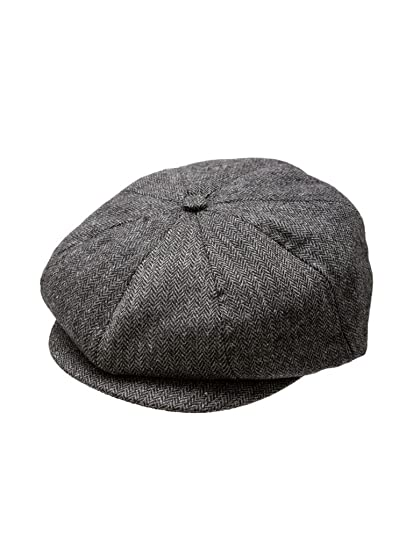 f4e87b6ca2a Born to Love Baby Boy s Newsboy Cap-Black And Gray XS(6-12