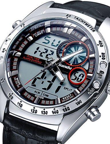 Xin & ZA Hombre Militar reloj digital/japonés Quartz Calendario/alarma/Noche leuchtend