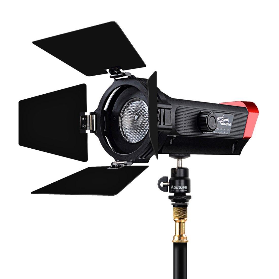 Aputure LS-mini20DライトストームハイカラーレンディションTLCI 97 7500K +/- 300Kビーム角調整可能COB LEDスタジオビデオライト   B07RTYH6GP