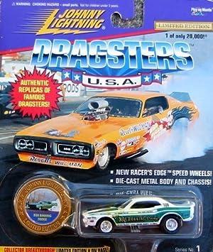 3 Bob Banning Dodge gelb//grün 1:64 OVP Johnny Lightning Dragsters Series No