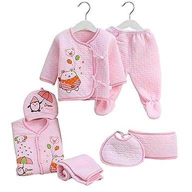 34aecaf52b5 7PCS/Newborn Baby Set 0-3M new Infant Clothing suit newborn cotton new born