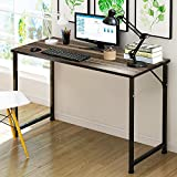 DL furniture - Office computer desk, Laptop Desktop Table, Wood Work-Station Study Home Office Furniture | Metal Frame & Natural Surface